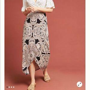 Anthropologie   Maeve Corvo Wrap Skirt